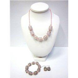 Set náhrdelník a náušnice z vinutých perlí A1100