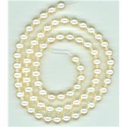 Korálky, voskované perle průměr 8 mm, světle krémové
