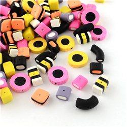 Korálek polymerový, mix tvarů L3527
