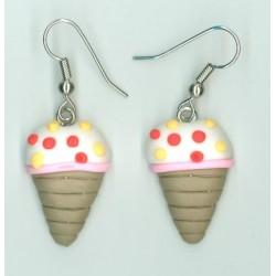 Náušnice zmrzlina W0029