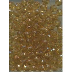 Korálky skleněné broušené  8 mm topaz