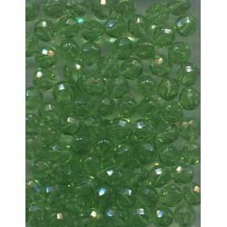 Korálky skleněné broušené  8 mm zelené