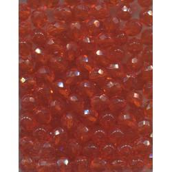 Korálky skleněné broušené  8 mm oranžové