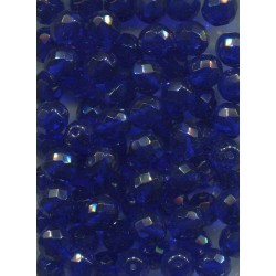 Korálky skleněné broušené  10 mm modré