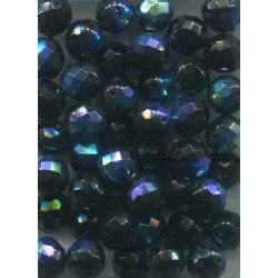 Broušené korálky 12 mm 20210 fialová bal. 10 ks