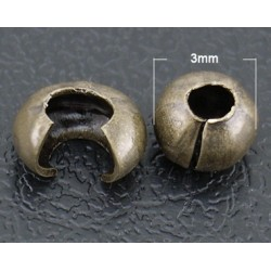 Zamačkávací korálek - balení 10ks L2341 C