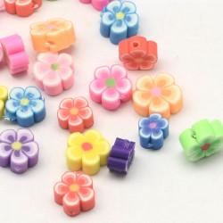 Polymerové květiny MIX barev, č. L2158 žlutá