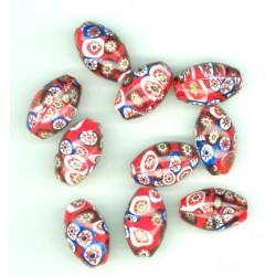 Korálek skleněný mozaika 16 mm