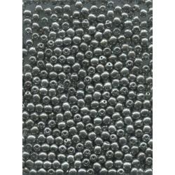 Korálky mačkané 70ks 111-19-001 4mm metalické