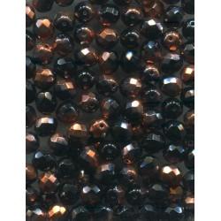 Broušené korálky 8 mm 10220 kouřový topaz bal. 50 ks