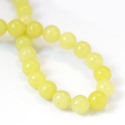 Korálek žlutý Jadeit  8 mm L3603