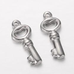 Přívěsek, nerez.ocel klíč L3640