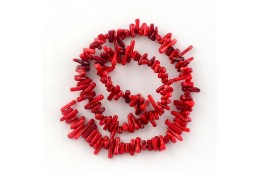 Zlomky minerálů červený Korál 1šňůra L3708