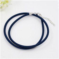 Náhrdelník z hedvábné šňurky L2426 modrá Indigo - 16